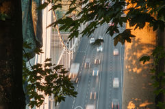 Traffic on Elizabeth Bridge, Budapest, Hungary Royalty Free Stock Images