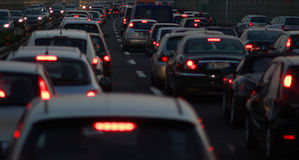 Traffic in evening Royalty Free Stock Photography