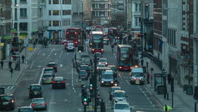 Traffic in the evening, London stock video footage