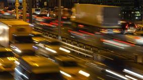Traffic, evening and night scene. Traffic jam, evening and night scene Royalty Free Stock Photos