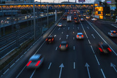 Traffic, evening  scene. Traffic, evening and night scene Royalty Free Stock Photos