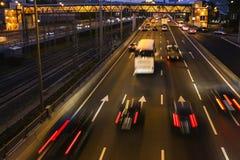 Traffic, evening  scene. Traffic, evening and night scene Stock Image