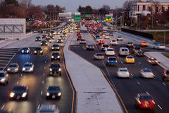 Traffic-Fairfax-County. Leesburg Pike, Tysons Corner in Fairfax County during rush hours Royalty Free Stock Photo
