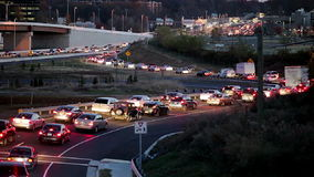 Traffic-Fairfax-County stock footage