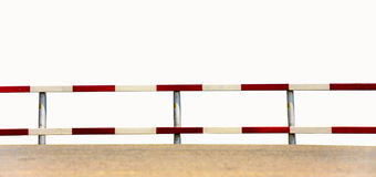 Traffic fence. Dangerous traffic fence beside street for safety royalty free stock images