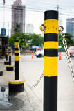 Traffic fence. On the road royalty free stock photography