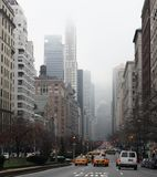 Traffic on Fifth Avenue, New York royalty free stock photo