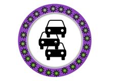 Traffic finder colorful button with web button. Traffic finder colorful button with round images inside web button illustration work Stock Photo