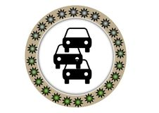 Traffic finder colorful button with web button. Traffic finder colorful button with round images inside web button illustration work Stock Image
