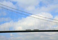 Traffic on the First Bosphorus Bridge, Turkey Stock Photos