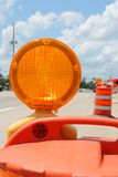 Traffic flash cone Stock Photos