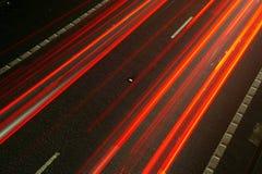 Traffic flow. Flow of traffic at night at long exposure Stock Photo