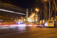 Traffic flow in Tbilisi. Traffic flow on the street Shota Rustaveli in Tbilisi Stock Photo