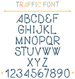 Traffic Font Letters Stock Photo