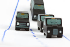 Traffic: four car (middle focus) Stock Photography