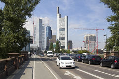 Traffic in Frankfurt Royalty Free Stock Photos