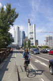 Traffic in Frankfurt Royalty Free Stock Photo