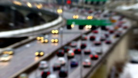 Traffic on Freeway. In Stockholm stock video footage