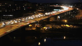 Traffic on Freeway. In Stockholm stock footage