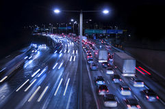 Traffic on Freeway Stock Images
