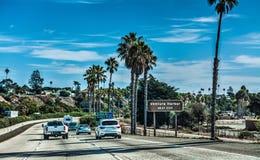 Traffic on 101 freeway southbound. California Stock Photo
