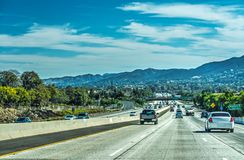 Traffic in 101 freeway southbound Royalty Free Stock Photography