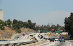 Traffic on Freeway. In Southern California royalty free stock photography
