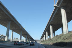 Traffic on Freeway in Southern California Royalty Free Stock Images