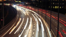 Traffic on Freeway. In stockholm, sweden stock video footage