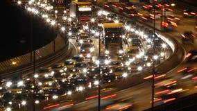 Traffic on Freeway. In Sweden stock video