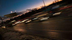 Traffic on Freeway stock footage