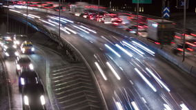 Traffic on Freeway stock video footage
