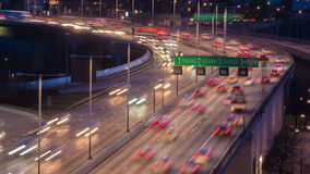 Traffic on Freeway stock footage