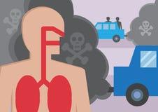 Traffic Fumes stock illustration