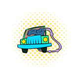Traffic fumes suicide icon, comics style Royalty Free Stock Images