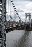 Traffic on the George Washington Bridge Stock Photography