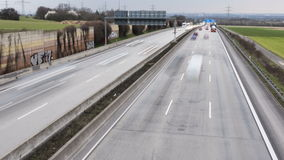 Traffic on German highway A66 stock video footage