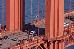 Traffic on Golden Gate Bridge. A closeup at a Golden Gate Bridge Royalty Free Stock Image