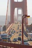 Traffic on Golden Gate Bridge, San Francisco stock photo