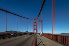 Traffic at Golden Gate Bridge - San Francisco, California, USA Royalty Free Stock Photography