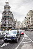 Traffic on Gran Via Stock Photos