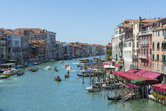 Traffic on Grand canal Royalty Free Stock Image