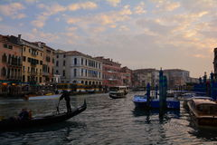 Traffic on the Grande Canal,Venice,Italy Royalty Free Stock Photography