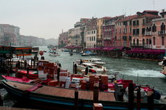 Traffic on the Grande Canal,Venice,Italy Royalty Free Stock Images