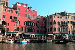 Traffic on the Grande Canal,Venice,Italy Stock Images