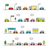 Traffic gray color Royalty Free Stock Photos