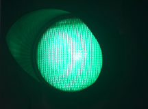 Traffic green go light Royalty Free Stock Image