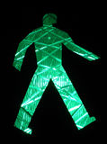 Traffic green light. Pedestrian green traffic light Royalty Free Stock Photography