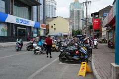 Traffic in Guangzhou city, China Stock Photo