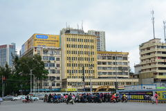 Traffic in Guangzhou city, China Stock Image